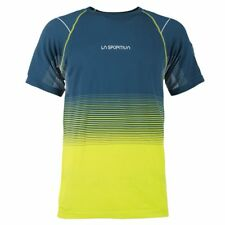 La Sportiva Men's Skin T-Shirt Ocean/Sulphur M
