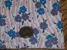Vintage Feed Sack Feed bag Mauve/ Pink rolling River Purple & Blue flowers #xxz
