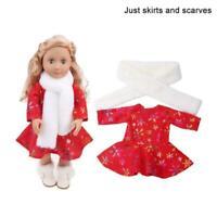 Puppenkleidung 18 Zoll Baumwollkleider Outfits Girl Puppenzubehör T4T9