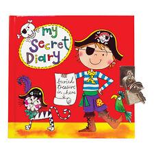 Pirate Secret Diary - Padlock & Key - Black Pages - Boys - Rachel Ellen Designs