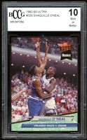 1992-93 Ultra #328 Shaquille O'neal Rookie Card BGS BCCG 10 Mint+