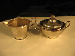 Vintage  Sugar,  with Lid , &  Creamer   by Manning Bowman Co.