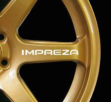 Subaru Impreza WRX STI 8 x logo decal graphics stickers for alloy wheels white