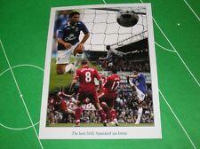 Everton Mikel Arteta Firmado 2010 Mersey Derby objetivo Montage