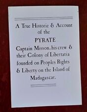 True Historie & Account of the Pyrate Captain Mission, pirates, beyond rare