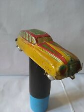 Vintage Old Tin Car Litho Print México Laredo 13 Pull/Push Toy Made in mexico