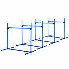 New Canine Agility Set Dog Jumping Training Obstacles Course Free Standing Blue
