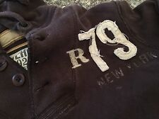 Ruehl No. 925 Factory Distressed Sweatshirt Hoodie Hooded Men's M Medium Brown