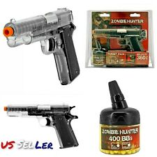 SPRING AIRSOFT BB GUN ZOMBIE HUNTER TARGET PACK 400 BBS 6mm 360 FPS 1911 PISTOL