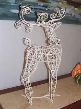 "NEW BOX PIER ONE $129 Metal Wire Reindeer  CHRISTMAS 2 tea light centerpiece 22"""
