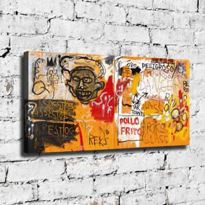 """32x16"""" Jean-Michel Basquiat """"Pollo Frito"""" HD canvas print large wall picture"""