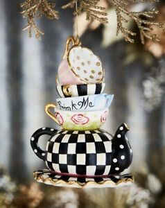 MacKenzie-Childs Stacking Teacups Ornament