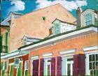 "Bourbon St.,New Orleans, French Quarter, oil painting, Tim Lauer, 14"" x 18"""