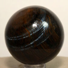 42mm Blue Tiger's Eye Sphere Natural Crystal Ball Quartz Mineral Stone - Africa