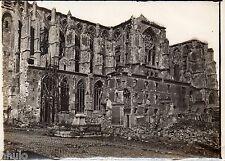 C168 Photographie vintage original St Quentin Destruction guerre Basilique 1915