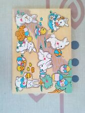 Vintage Wooden Easter Bunny Puzzle