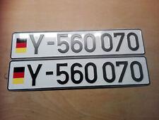 Bundeswehr Kfz Kennzeichen Mercedes Unimog MAN wolf oldtimer fun wunsch Schild Y