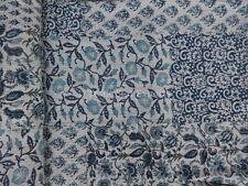 Block Print Fabric Kantha Throw Blanket Vintage Art Indian Quilt Patchwork Gudri