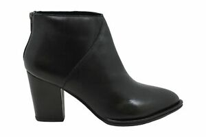 Diba True Pay Phone Snake Leather Ankle Boot, Black, Size 11.0
