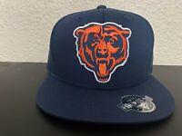 CHICAGO BEARS NFL EMBROIDERED BEAR LOGO ADJUSTABLE NAVY BLUE SNAPBACK HAT NEW