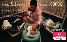 SCHEDA RICARICA VODAFONE FAMIGLIA A CARICO 50 2008.12 VARIANTE TAGLIO