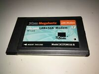 3Com 3CCFEM556B 10/100 LAN + 56K Modem PCMCIA PC Card No Dongle Free Fast Ship!