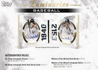 2018 TOPPS LUMINARIES BASEBALL LIVE PICK YOUR PLAYER (PYP) 1 BOX BREAK #4