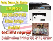 Ricoh Aficio SG 3110 SFNw Sublimation Ink- No Headaches like with Epson Printers