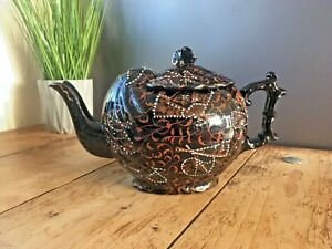 SUPERB AESTHETIC MOVEMENT JACKFIELD BURGESS & LEIGH SHELL TEAPOT WILLIAM MORRIS