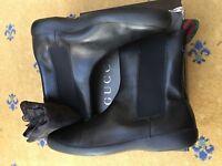 Gucci Mens Shoes Black Leather Chelsea Dealer Boots UK 10.5 US 11.5 EU 44.5 Web