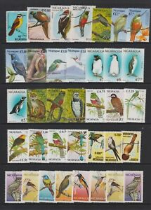Nicaragua - Small Collection of 84 x Bird Stamps - Mint & Used