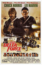 THE DELTA FORCE (1986) ORIGINAL MOVIE POSTER  -  FOLDED