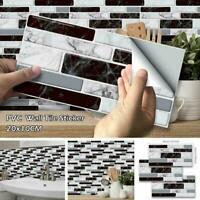 9pcs 3D Brick Tile Sticker Selbstklebende Wandaufkleber Dekor Badezimmer