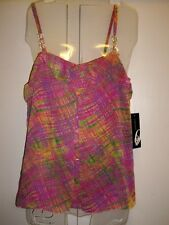 NEW Nine West Pink Multi Ruffle Top w/ beads size 16 retail $69
