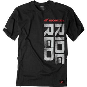 Factory Effex Honda Ride Red Vertical T-Shirt (Black) Choose Size
