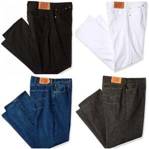 Levis Mens Big and Tall 501 Original Prewash & Raw Denim Jeans Blue Black White