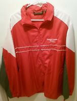 Hollywood Casino St Louis  Red/Gray/White Zip Front Windbreaker Size XL