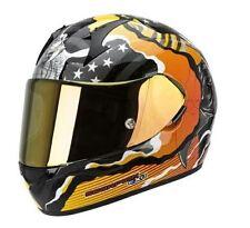 Casques orange Scorpion moto pour véhicule
