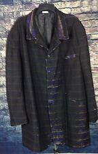 FALCONE CLUB PIMP JACKET MENS XL 52 LONG  SHIMMERS BLACK MULTI-COLOR MADE IN USA