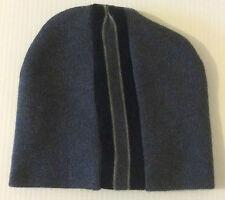 Black Stripe Toque Hat Beanie Knit Ski Sport Caps Wool Winter Home Wear Outdoor