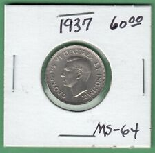 1937 Canadian 5 Cents Coin - MS-64