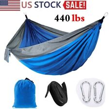 Portable Double Person Camping Hammock Nylon Travel Outdoor Sleeping Swing Bed