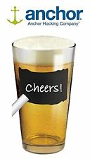 ANCHOR HOCKING COMPANY 16 OUNCE BEER CHALK TALK CHALKBOARD NAME PINT GLASS, NEW!
