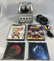 Nintendo GameCube Console Platinum Controller, Memory Card & 4 Games- Tested