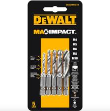 Dewalt Max Impact Driver Metric Drill Tap Countersink Bit Set 5 Pack Tool Bits