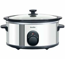 Breville 5.5L Compact Stainless Steel Slow Cooker kitchen appliance black