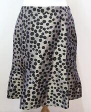 MOSCHINO Ladies Iridescent Blue & Black Polka Dot A-Line Skirt Size UK10