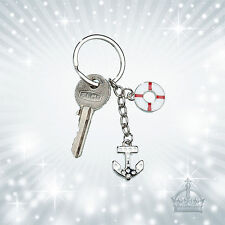 Anker Rettungsring Schlüsselanhänger Gilde 51041 Anhänger Emaille  GI-SH-99