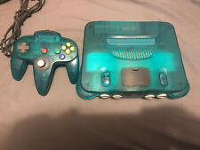 Ice Blue Nintendo 64 N64 Console & Matching OEM Controller Tested (READ DESC.)