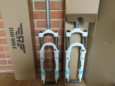 "Air Bike XC28 MTB Suspension Fork 26"" Lockout 100mm Travel 1 1/8  Steerer White"